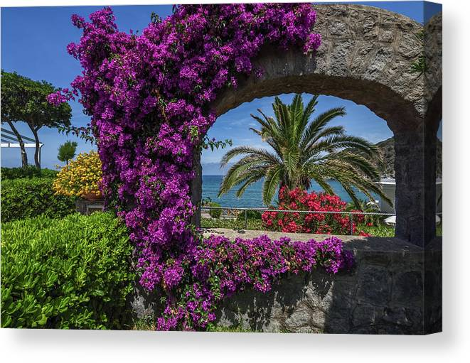 Aquamarine Canvas Print featuring the photograph Beautiful Ischia by Andrey Bo