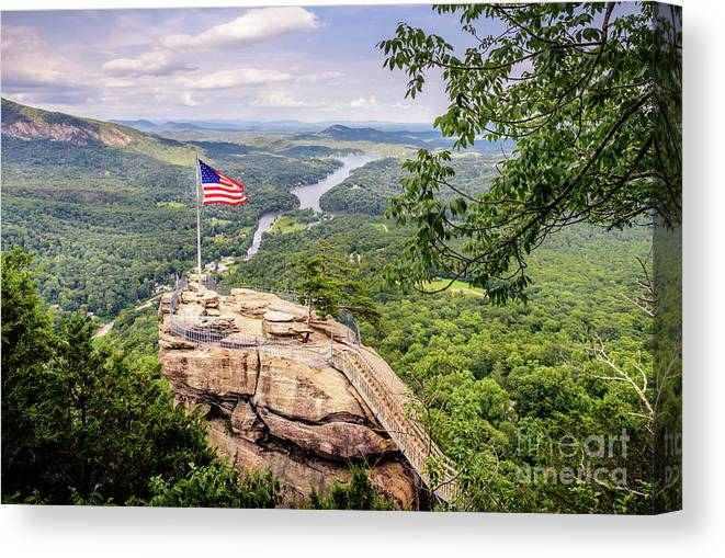 Afternoon Canvas Print featuring the photograph Chimney Rock State Park by Cecilius Concepcion