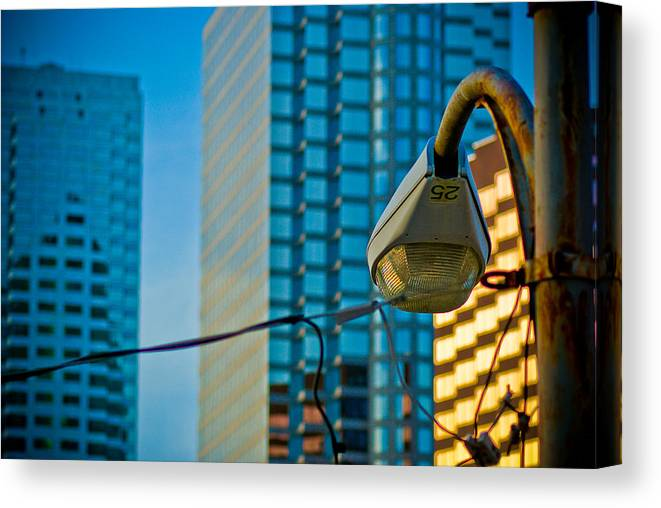 Tampa Canvas Print featuring the photograph Downtown Tampa Florida by Patrick Flynn
