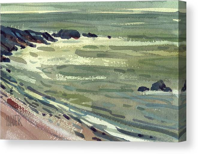 Pacific Canvas Print featuring the painting Pacific Evening by Donald Maier