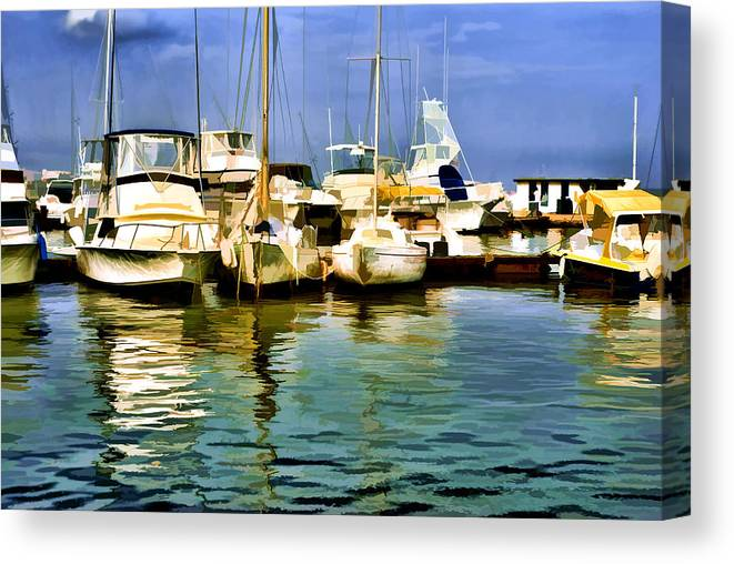 Yacht Club Canvas Print featuring the photograph Yacht Club by Galeria Trompiz