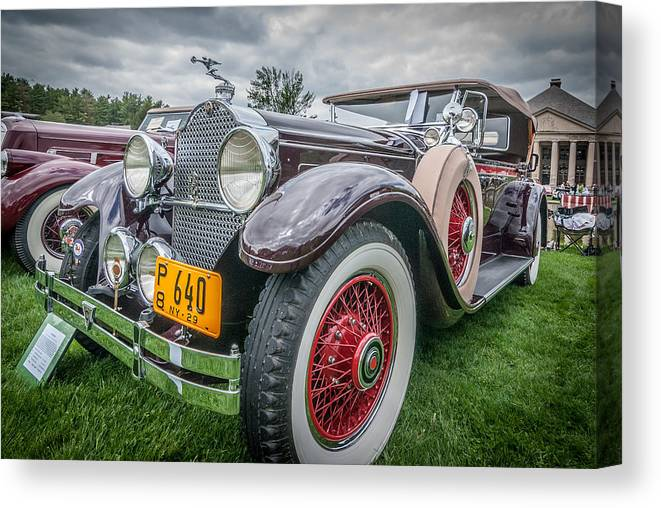 1929 Packard Canvas Print featuring the photograph 29 Packard by Paul Barkevich