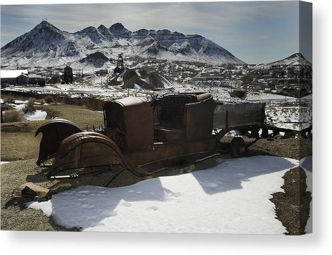 Landscape Canvas Print featuring the photograph Abandoned Cars No. 2 by Werner Rolli