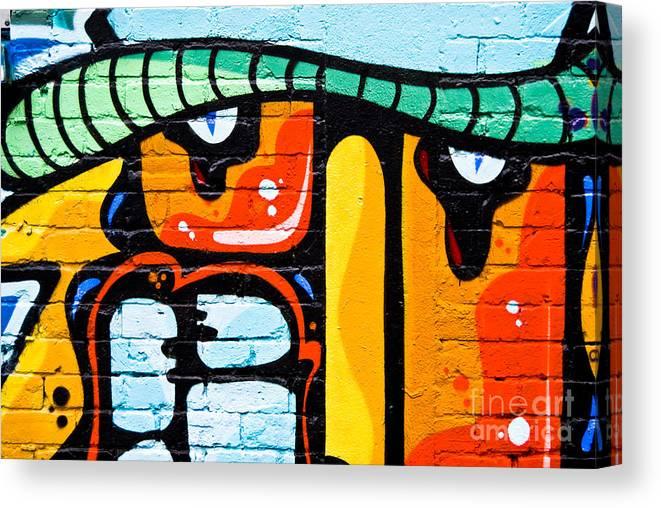 Abstract Graffiti Face Canvas Print