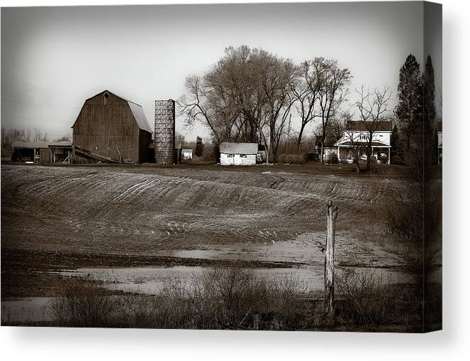 Barn Canvas Print featuring the photograph Antique Michigan Farm by Onyonet Photo Studios