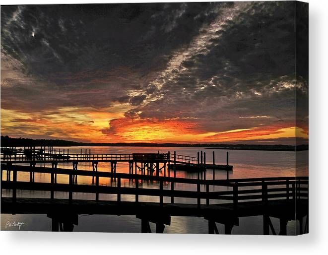 Sunset Canvas Print featuring the photograph Artistic Black Sunset by Phill Doherty