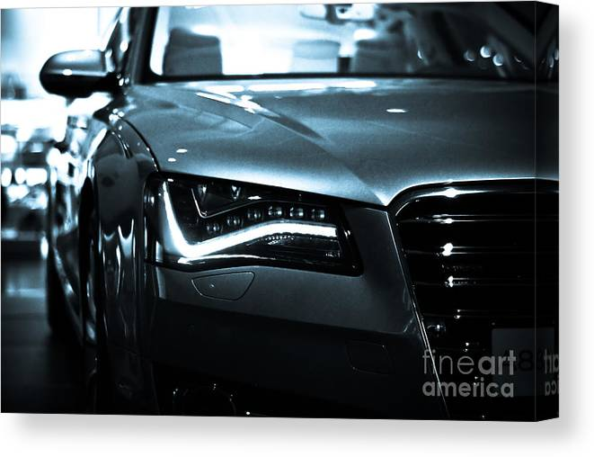 Audi Canvas Print featuring the photograph Audi A8 by Syed Aqueel