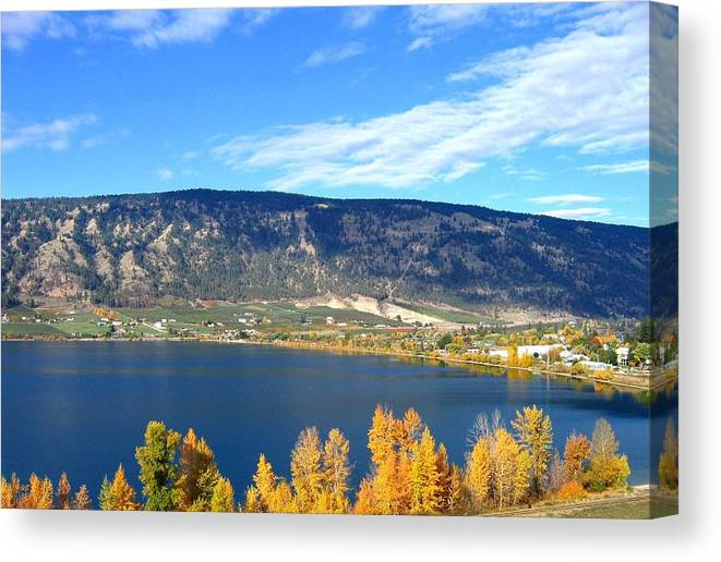 Autumn Canvas Print featuring the photograph Autumn In Oyama by Will Borden