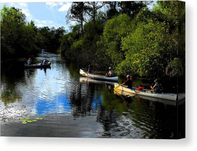 Big Cypress National Preserve Florida Canvas Print featuring the painting Big Cypress Outing by David Lee Thompson
