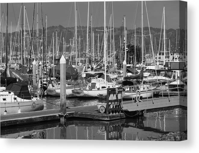 Boats Canvas Print featuring the photograph Boats At The Bay by Brian Anderson