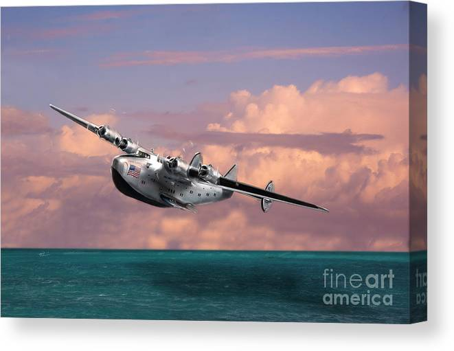 Aviation Canvas Print featuring the photograph Boeing 314 Clipper by Tony Pierleoni
