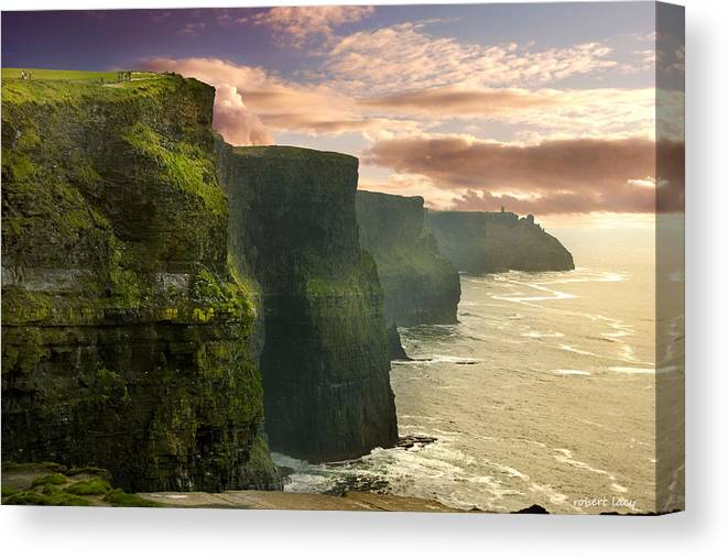 Cliffs Of Moher Canvas Print featuring the photograph Cliffs Of Moher - 2 by Robert Lacy
