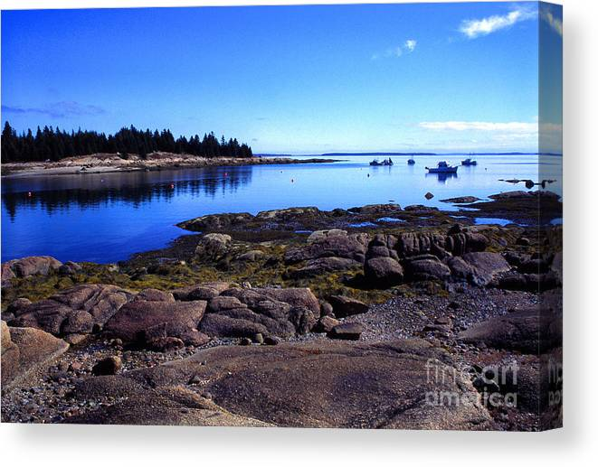 Deer Isle Canvas Print featuring the photograph Deer Isle Sunday by Thomas R Fletcher