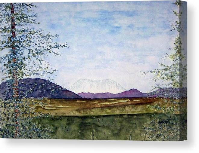 Alaska Art Canvas Print featuring the painting Denali In July by Larry Wright