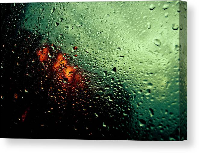 Water Canvas Print featuring the photograph Droplets IIi by Grebo Gray