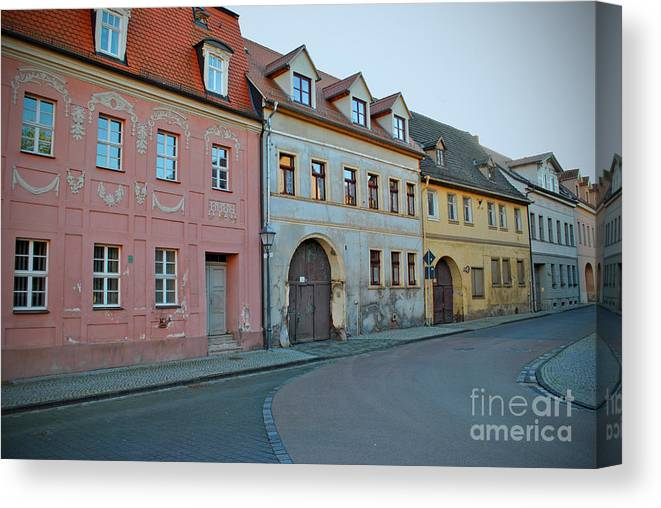 House Canvas Print featuring the photograph Eisleben At Dusk by Jost Houk