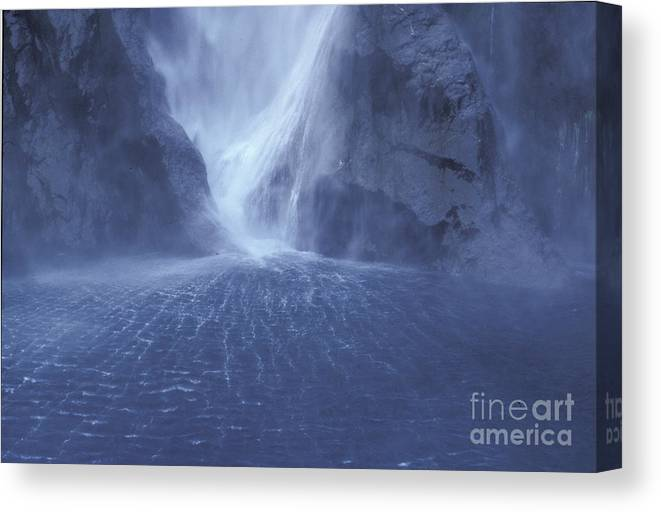 Milford Sound Canvas Print featuring the photograph Electric Water - Milford Sound by Sandra Bronstein