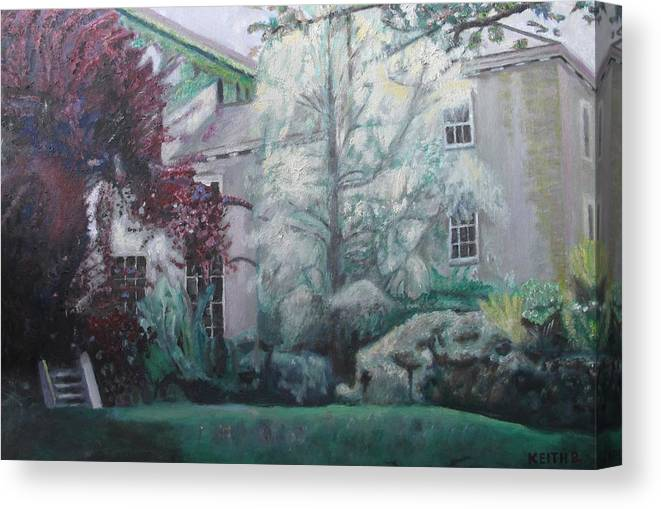 English Canvas Print featuring the painting English Estate by Keith Bagg
