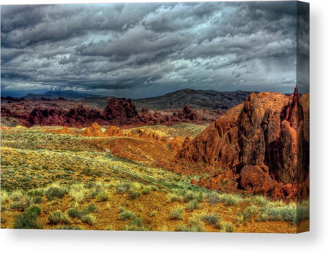 Landscape Canvas Print featuring the photograph Eye Of The Storm by Stephen Campbell