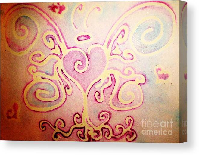 Love Canvas Print featuring the painting Fairylove by Chandelle Hazen