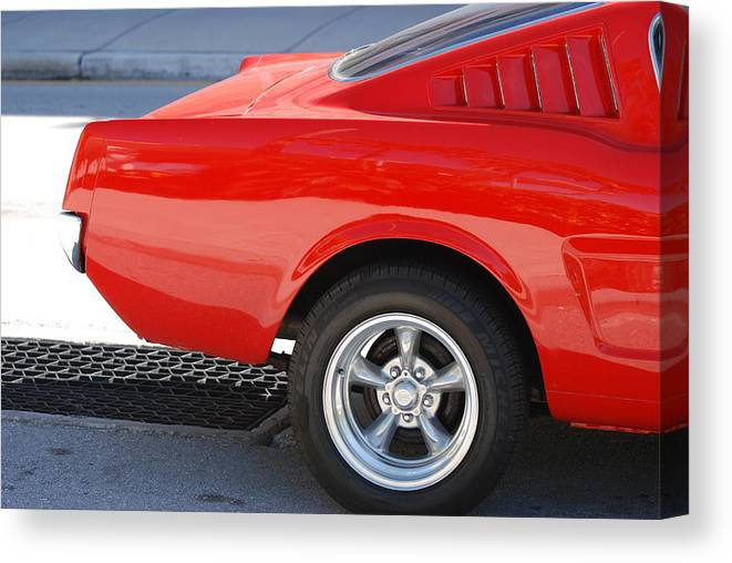 Ford Canvas Print featuring the photograph Fastback Mustang by Rob Hans