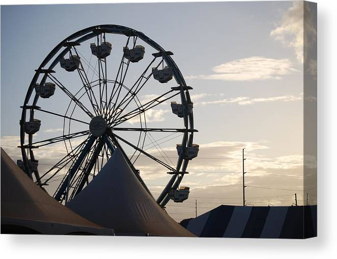 Ferris Wheel Canvas Print featuring the photograph Ferris Wheel by Lakida Mcnair