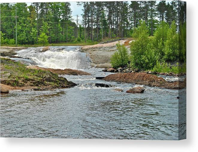 Waterfall Canvas Print featuring the photograph Frank J Russel Falls 2 by Michael Peychich