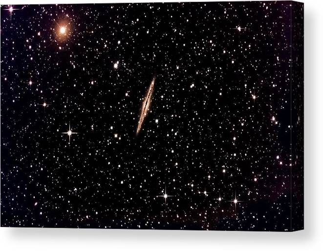 Star Canvas Print featuring the photograph Galaxy In Space by Jim DeLillo