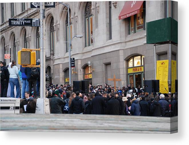 Church Canvas Print featuring the photograph Good Friday On Trinity Place by Rob Hans