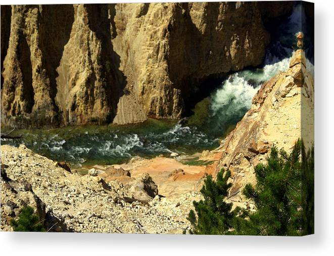 Yellowstone National Park Canvas Print featuring the photograph Grand Canyon Of The Yellowstone 3 by Marty Koch