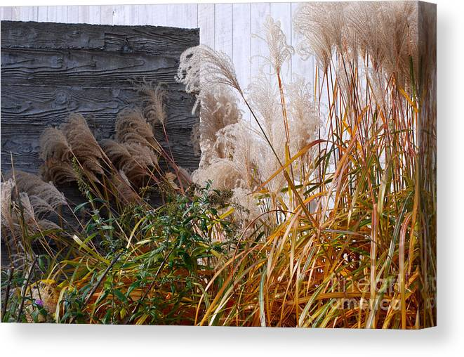 Kent Canvas Print featuring the photograph Gray Wall by Andrea Simon