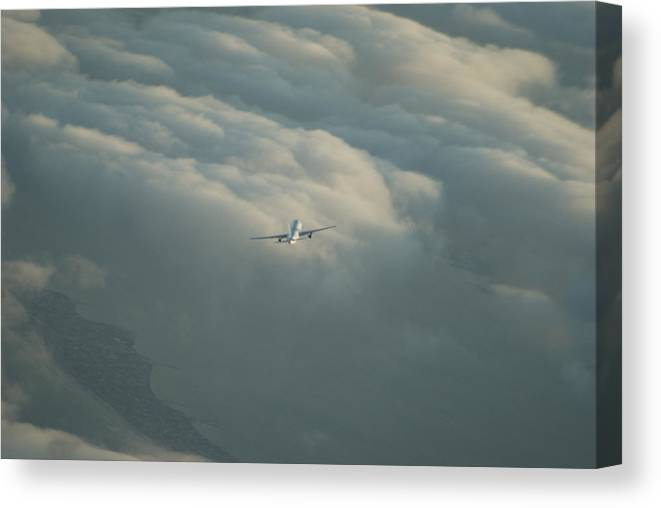 Airplane Canvas Print featuring the photograph Holding by Brian Anderson
