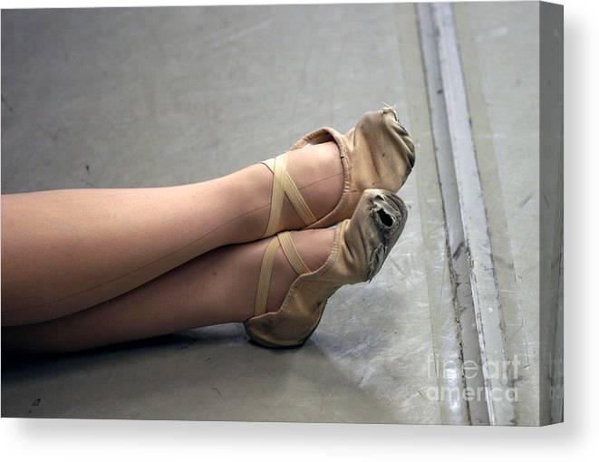 Dance Canvas Print featuring the photograph Holes In Dance Shoes by Steve Augustin