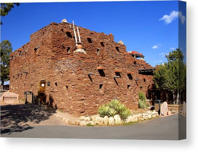 Hopi House Canvas Print featuring the photograph Hopi House Gcnp Az by David Lee Thompson