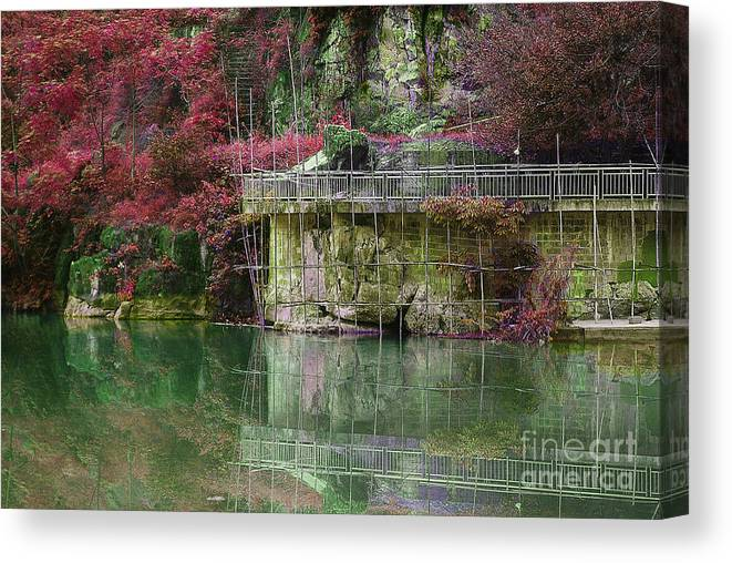 Landscape Canvas Print featuring the photograph Jade Waters by Dot Xie
