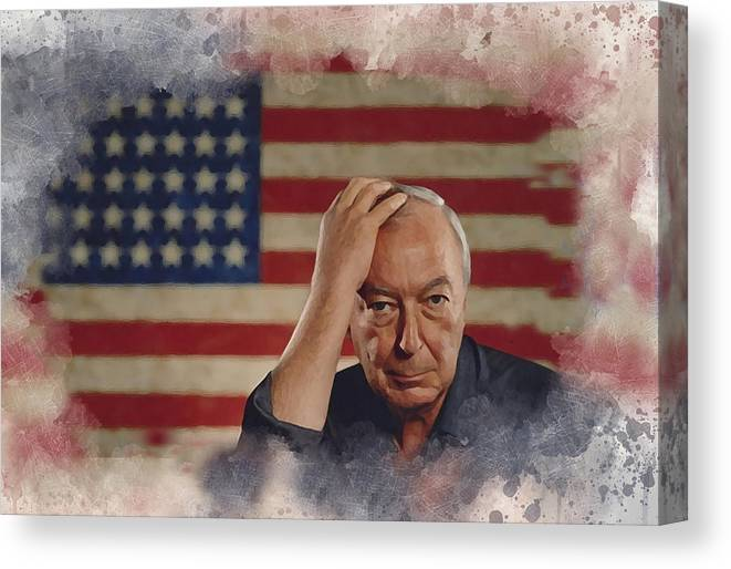 Jasper Johns Canvas Print featuring the digital art Jasper Johns by Karl Knox Images