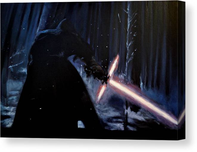 Kylo Ren Canvas Print featuring the painting Kylo-ren by Ruben Barbosa