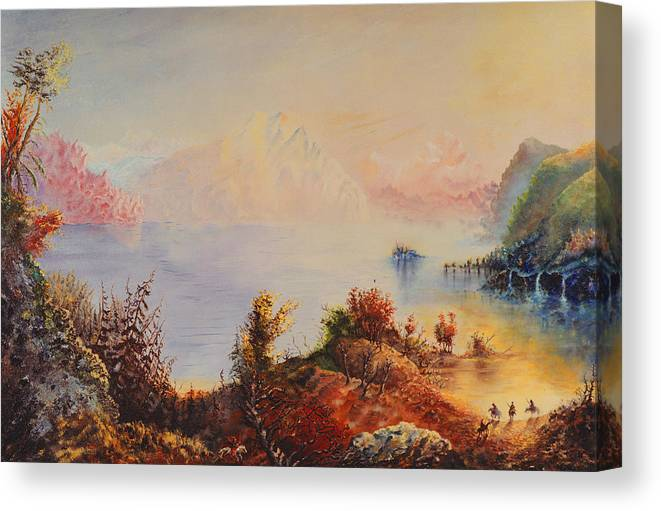 Western Canvas Print featuring the painting Lewis And Clark by Richard Barham