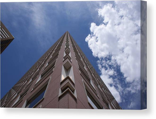 Architecture Canvas Print featuring the photograph Long Way Up by Brian Anderson