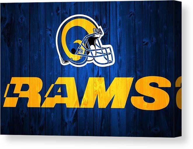 e1247d41 Los Angeles Rams Barn Door Canvas Print