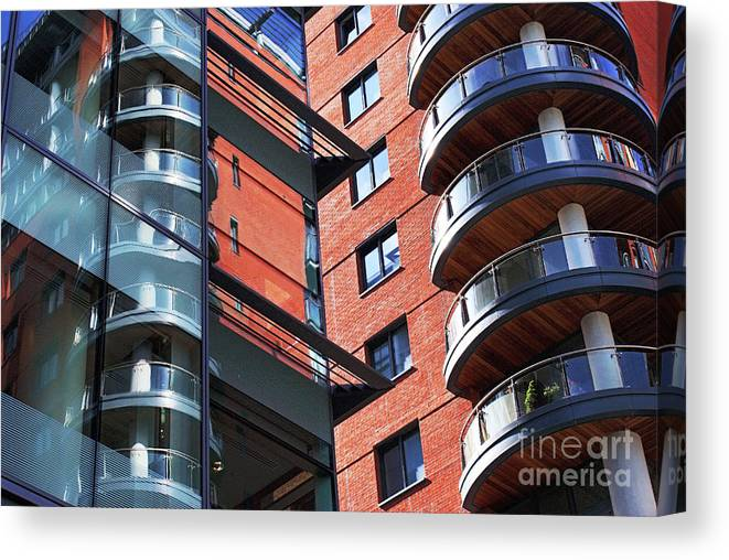 Architecture Canvas Print featuring the photograph Manchester - Spinningfields by Hristo Hristov