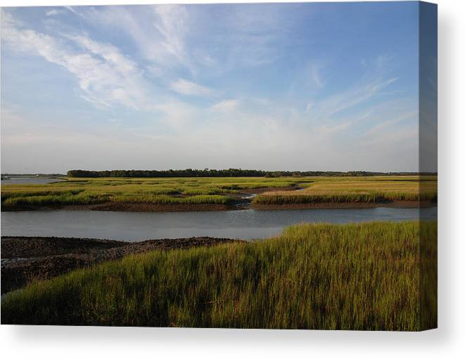 Photography Canvas Print featuring the photograph Marsh Scene Charleston Sc by Susanne Van Hulst