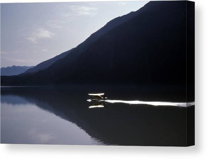 Mountains Canvas Print featuring the photograph Mountain Lake Landing 2 by Lyle Crump