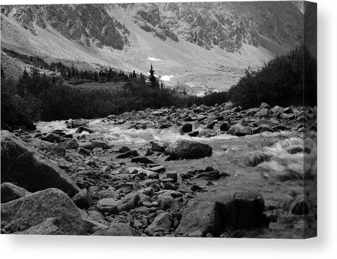 Mountain Canvas Print featuring the photograph Mountain Stream by Brian Anderson