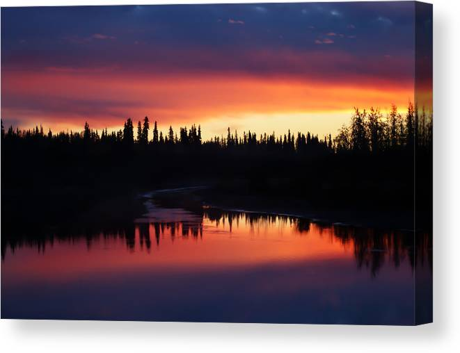 River Canvas Print featuring the photograph Natural Chena by John Hall