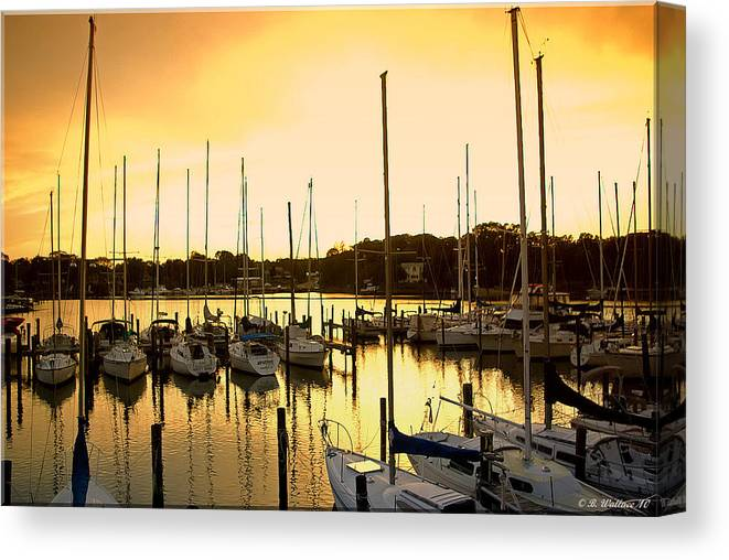 2d Canvas Print featuring the photograph Oak Point Harbor by Brian Wallace