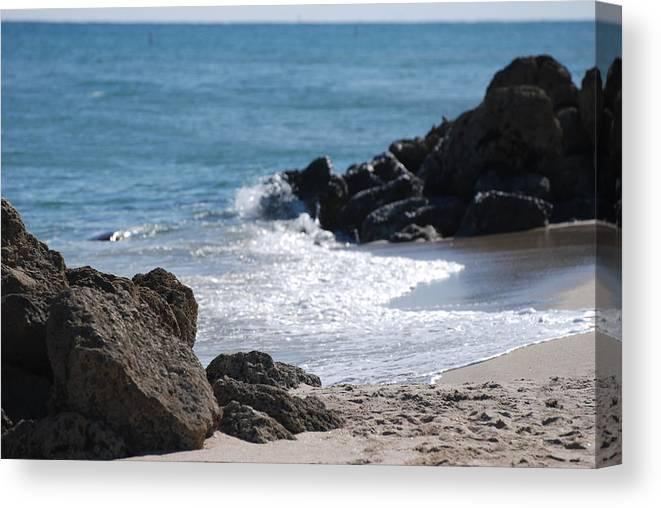Sea Scape Canvas Print featuring the photograph Ocean Rocks by Rob Hans