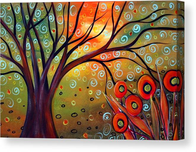 Landscape Canvas Print featuring the painting Piece Of Eden by Luiza Vizoli