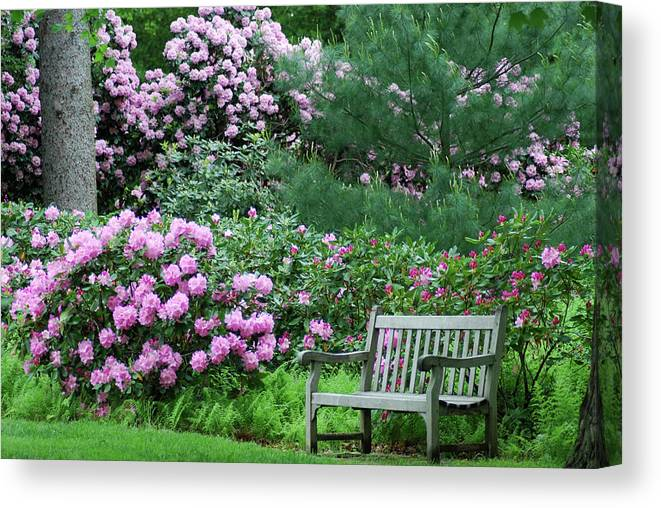 Longwood Gardens Canvas Print featuring the photograph Place To Rest by Richard Bryce and Family