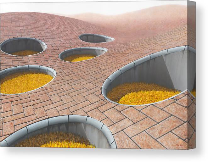 Architecture Canvas Print featuring the painting Polytrichum Antrum by Patricia Van Lubeck